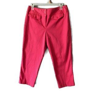 Ann Taylor LOFT Pink Stretch Capris